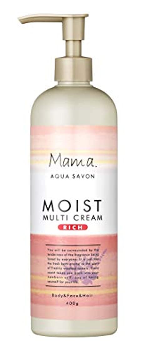落胆したどこでもの前でママアクアシャボン モイストマルチクリーム リッチ フラワーアロマウォーターの香り 18A 400g