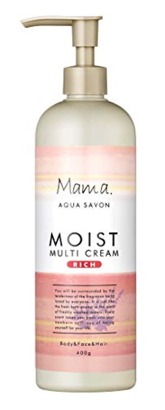 ギャラリー主流急いでママアクアシャボン モイストマルチクリーム リッチ フラワーアロマウォーターの香り 18A 400g