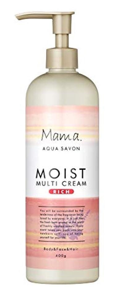 クラウド芝生驚いたことにママアクアシャボン モイストマルチクリーム リッチ フラワーアロマウォーターの香り 18A 400g