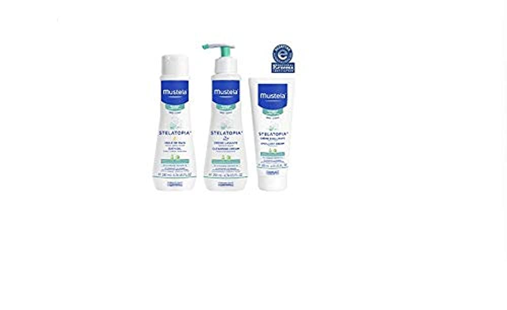 累計速記哺乳類[Mustela] [バスタイムギフトセット、ベビースキンケアBathtime Gift Set, Baby Skin Care Available for Normal, Dry, Sensitive, and Eczema...