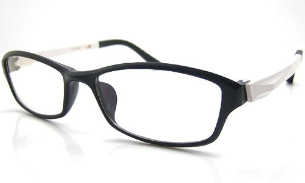老眼鏡 ウルテムスーパーライト ブルーライトカット シニアグラス [全額返金保証] (度数:+3.0, ホワイト)