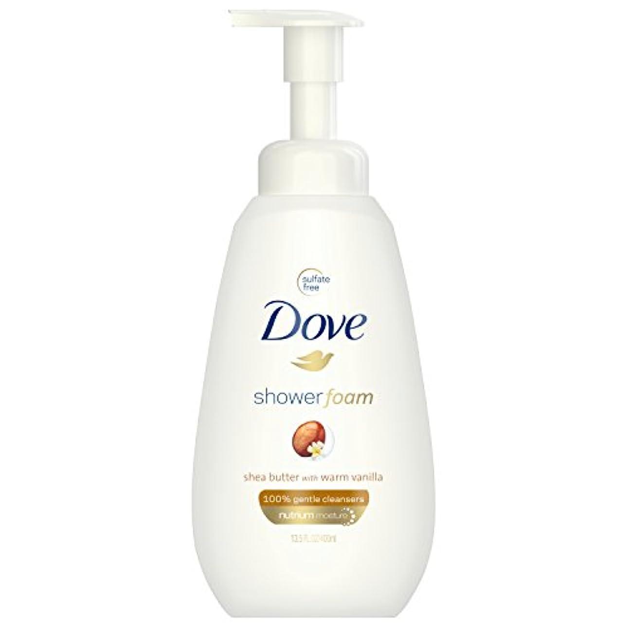 許さないささやきすり減るDOVE BODY WASH シャワー泡、ウォームバニラシアバター、13.5オズ