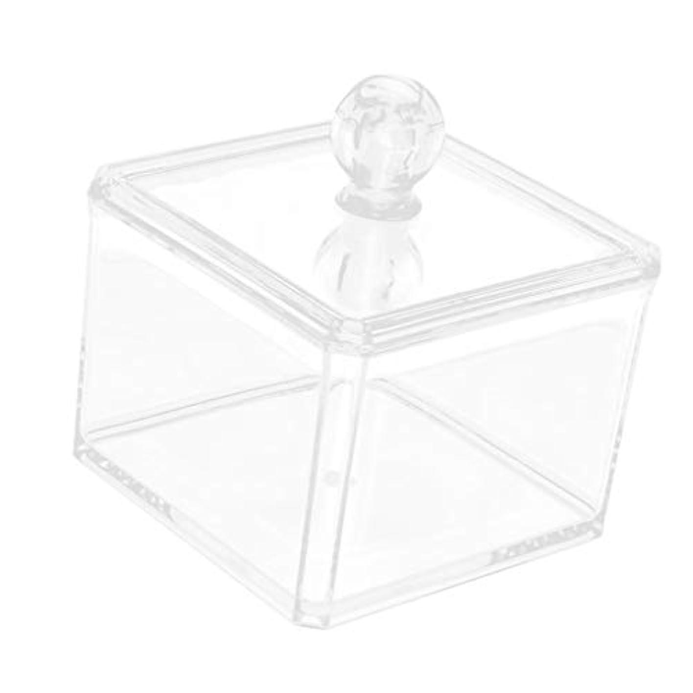 不格好負荷阻害する収納ケース クリア 小物入り 綿棒 化粧パッド 収納ボックス オーガナイザー 2サイズ選べ - 9.4x7cm