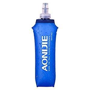 AONIJIE ハイドレーションパック スポーツボトル ハイドレーション ボトル 500ml シリコン製 折りたたみ可 無毒無臭 アウトドア対応