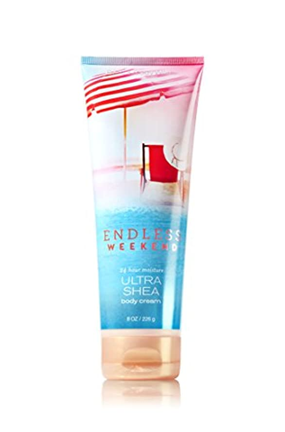 パステル食物エッセイ【Bath&Body Works/バス&ボディワークス】 ボディクリーム エンドレスウィークエンド Ultra Shea Body Cream Endless Weekend 8 oz / 226 g [並行輸入品]