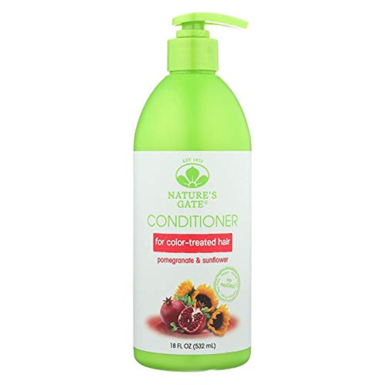 規制証明する緩めるNature's Gate, Conditioner, Hair Defense, Pomegranate Sunflower, 18 fl oz (532 ml)