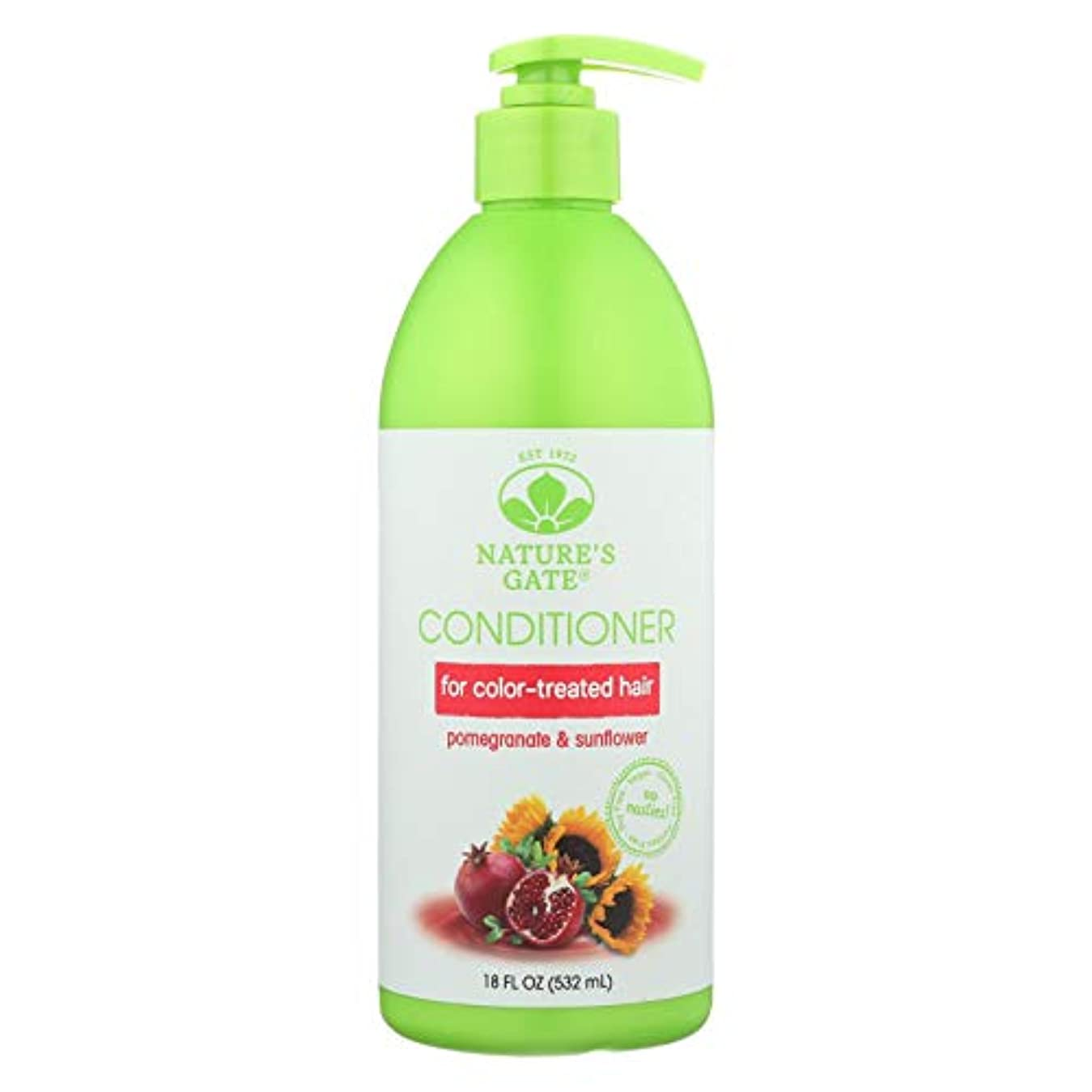 でボアイタリックNature's Gate, Conditioner, Hair Defense, Pomegranate Sunflower, 18 fl oz (532 ml)