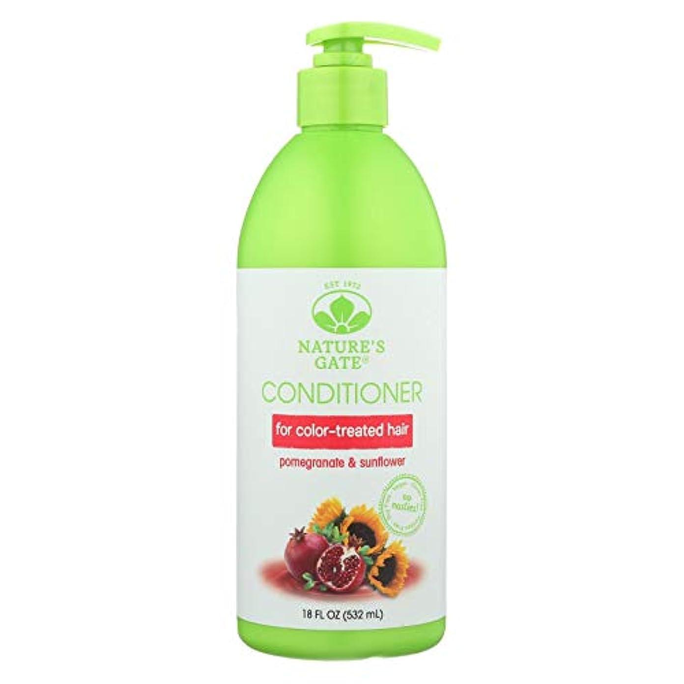豊かにするフェードアウトブランド名Nature's Gate, Conditioner, Hair Defense, Pomegranate Sunflower, 18 fl oz (532 ml)