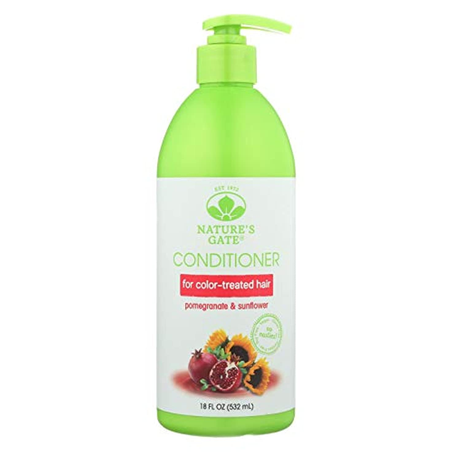 保護スケート居心地の良いNature's Gate, Conditioner, Hair Defense, Pomegranate Sunflower, 18 fl oz (532 ml)