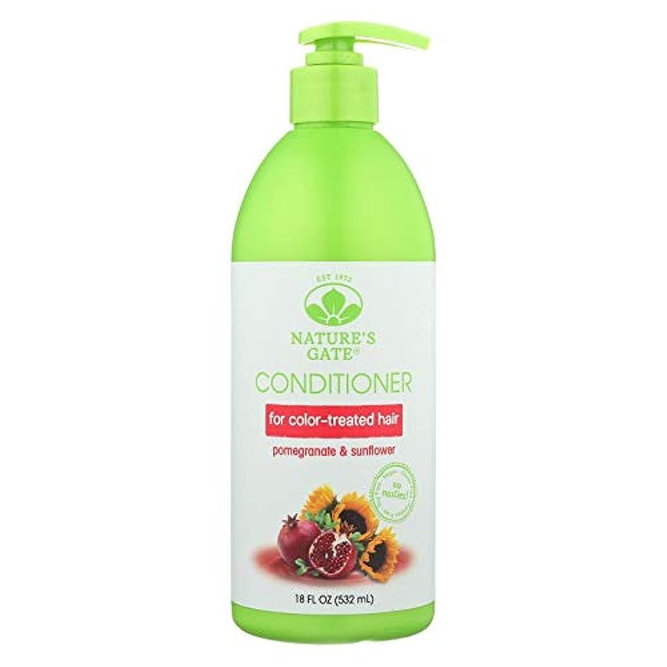 なぞらえる不倫留め金Nature's Gate, Conditioner, Hair Defense, Pomegranate Sunflower, 18 fl oz (532 ml)