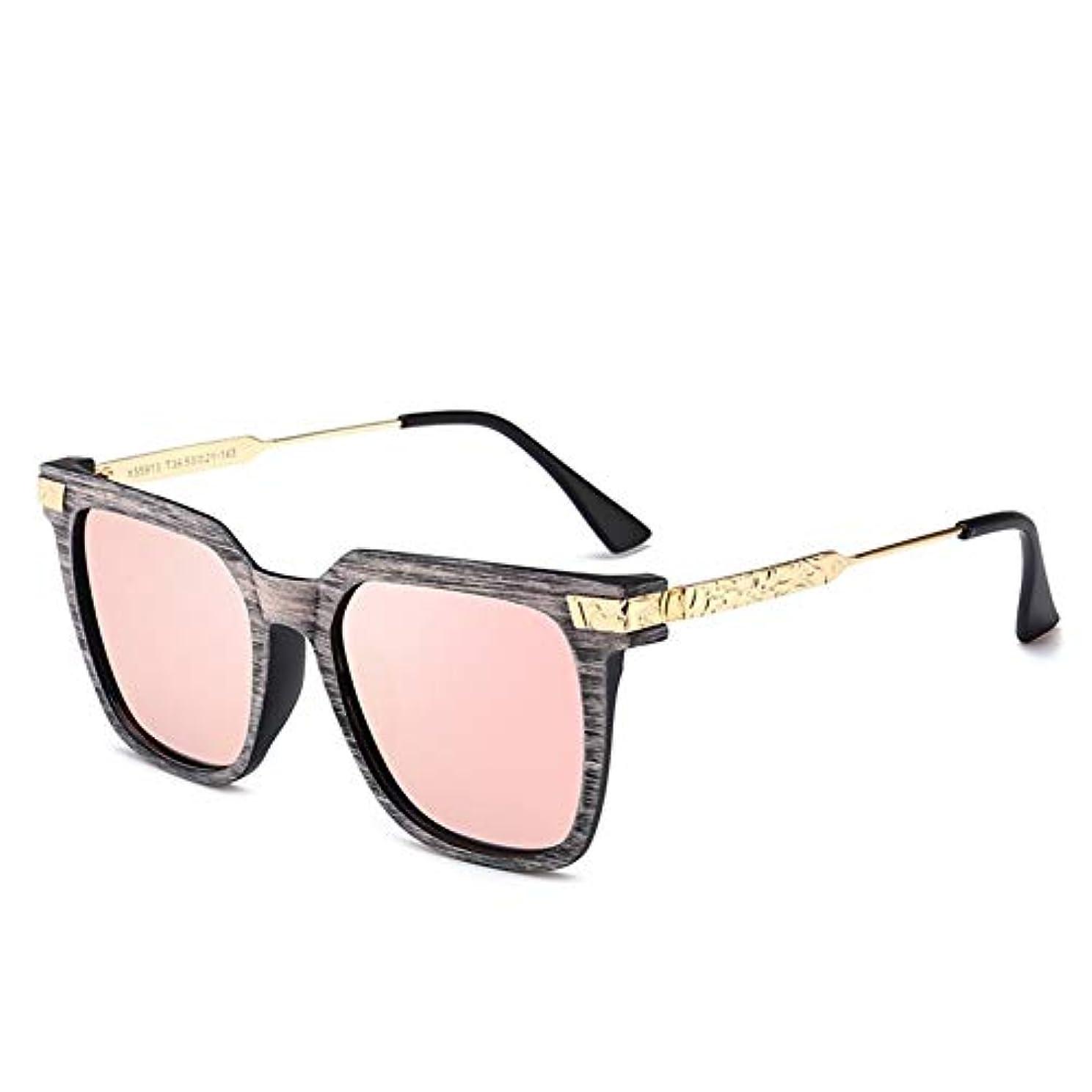 確執リンケージ知覚できるQ AI NI ストリートファッションサングラス偏光ミラーメンズとレディースブルー、ピンク、パープル 毎日の旅行用サングラス (Color : C3 powder)