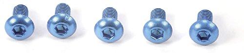 HOP-UP OPTIONS OP-765 3x6 6角ボタンヘッドビス ブルー/5本