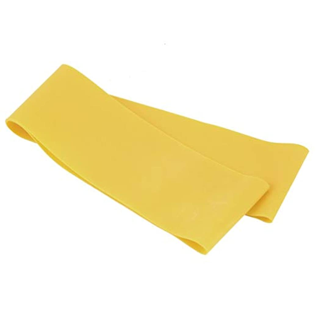 光のヶ月目輪郭滑り止めの伸縮性のあるゴム製伸縮性があるヨガのベルトバンド引きロープの張力抵抗バンドループ強さのためのフィットネスヨガツール - 黄色