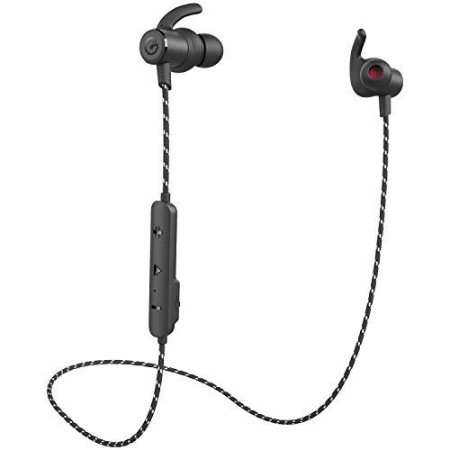 GEVO Bluetoothイヤホン ワイヤレスイヤホン スポーツ ランニング ipx6防水 ナイロンコードタイプ GV18 黒
