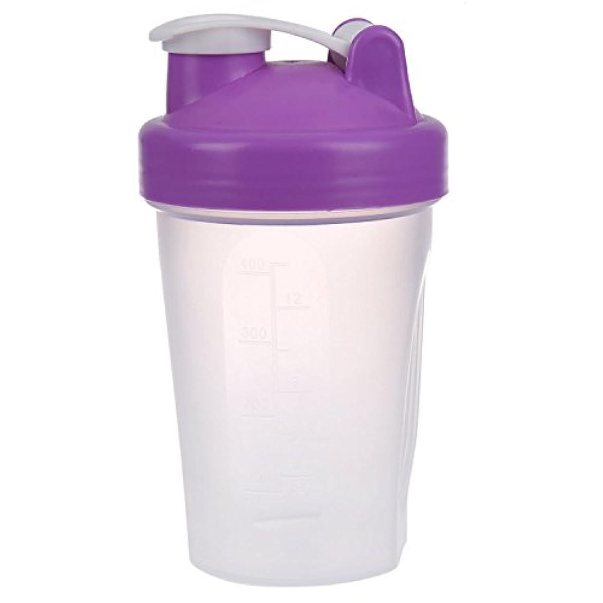バスルームクロール警察TOOGOO スマートシェイク ジムプロテインシェーカー ミキサーカップミキサーボトル 紫