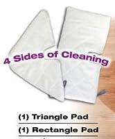 Astar shark All Purpose Micro-fiber Steam Pocket Cleaning Scrubbing Pads (Microfiber, 2pcs) [並行輸入品]