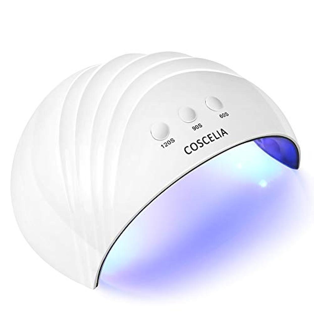 スケルトンひいきにする信条24W ホワイト ネイルライト 硬化用UV/LEDライト ネイルドライヤー ネイル道具?ケアツール 硬化用ライト マニキュア ネイルアートツール