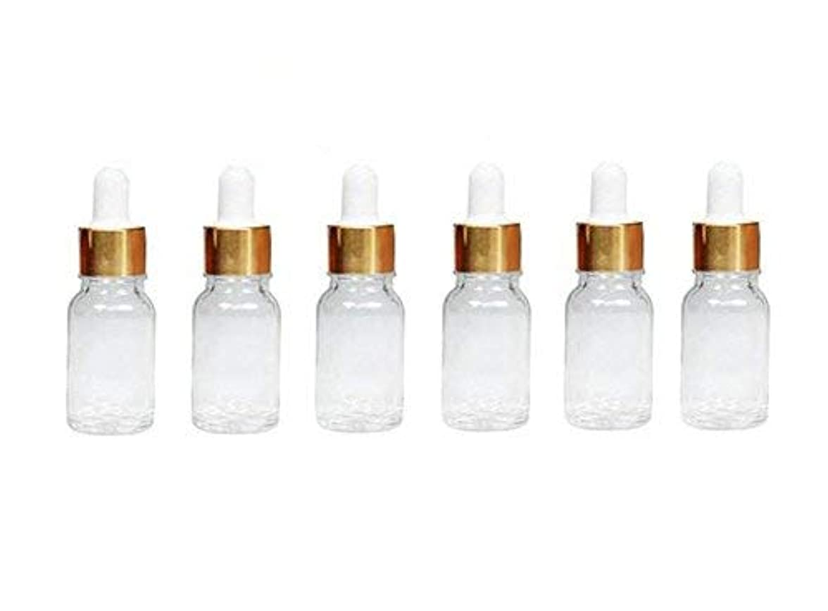 信号経験的雑多な6Pcs Empty Refillable Clear Glass Essential Oil Dropper Bottles Sample Container Makeup Cosmetic Jars With Glass...