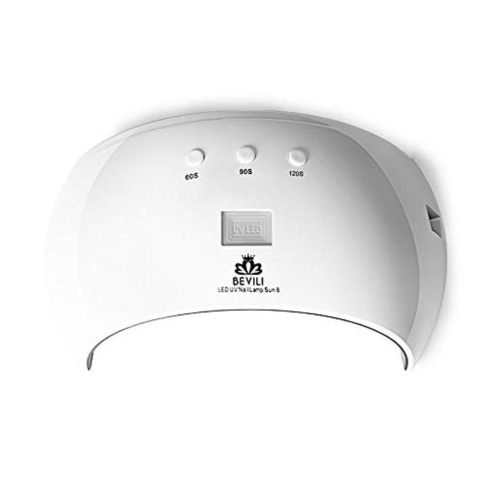 MANOOBY 24W硬化用UVライト3段階タイマー& 自動センサー付きハイパワー ネイルドライヤー