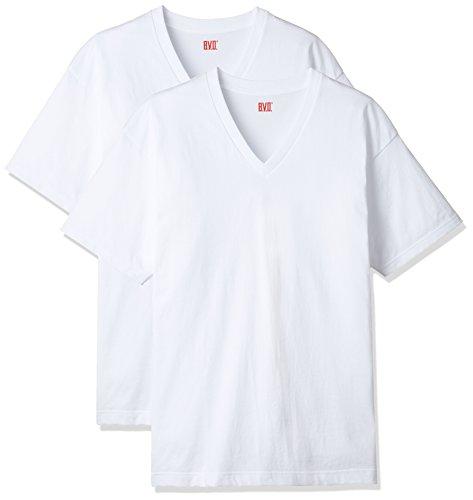 B.V.D. 吸汗速乾2枚組 VネックTシャツ NB205-2P L WH