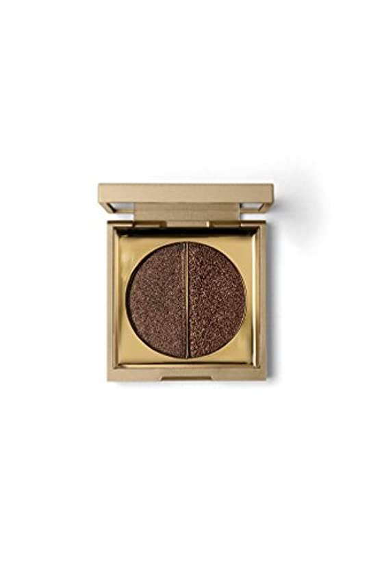 リーダーシップ感謝祭ルーStila Vivid & Vibrant Metallic Eye Shadow Duo - Smoky Quartz 0.09oz (2.6g)