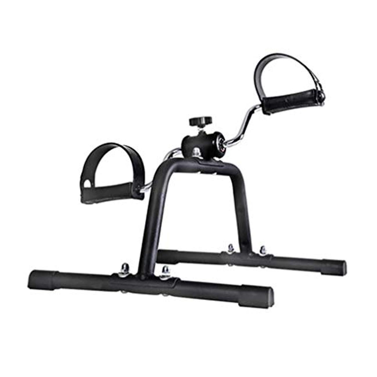 気になるサスティーン沿ってポータブルアームと脚ペダルエクササイザーホームインドアミニエクササイズバイク抵抗調整可能な高齢者上下肢リハビリテーショントレーニングマシン,A