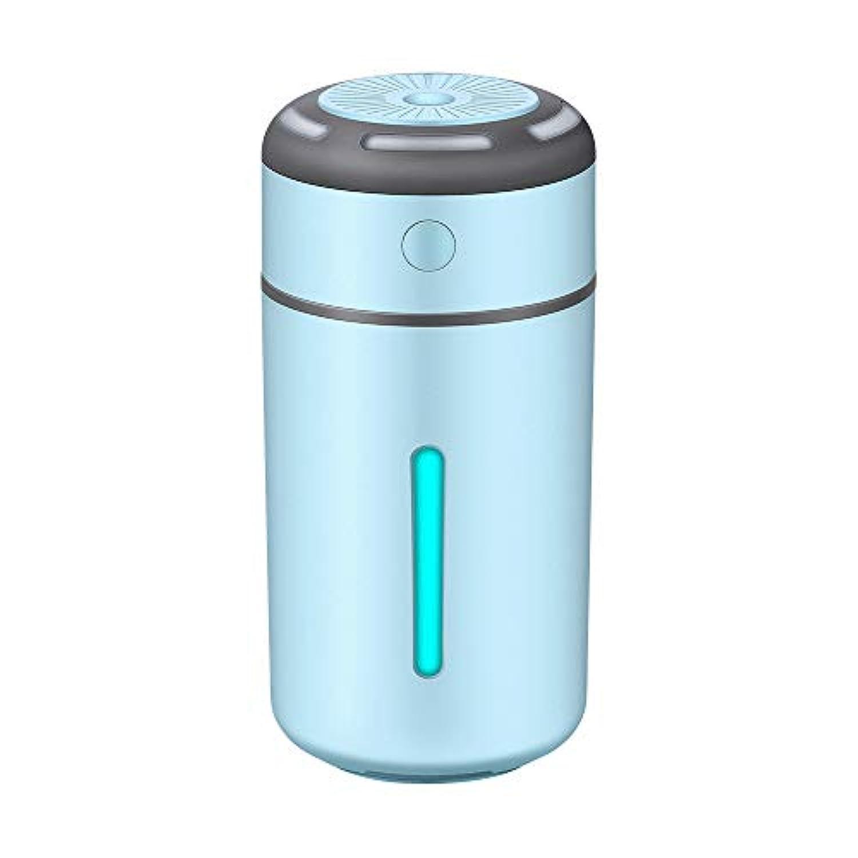 USBミニ加湿器ポータブルオフィスデスクトップ精製加湿器車の加湿器 (色 : 青)