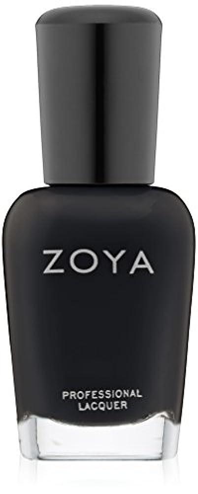 領域ペインティング一元化するZOYA ゾーヤ ZP771 WILLA ウィラ 15ml 2014 Winter/Holiday Wishes Collection マットブラック 爪にやさしいネイルラッカーマニキュア