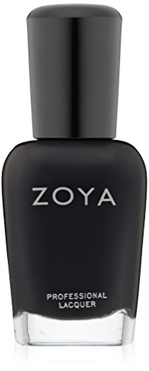 無数の性別考古学的なZOYA ゾーヤ ZP771 WILLA ウィラ 15ml 2014 Winter/Holiday Wishes Collection マットブラック 爪にやさしいネイルラッカーマニキュア