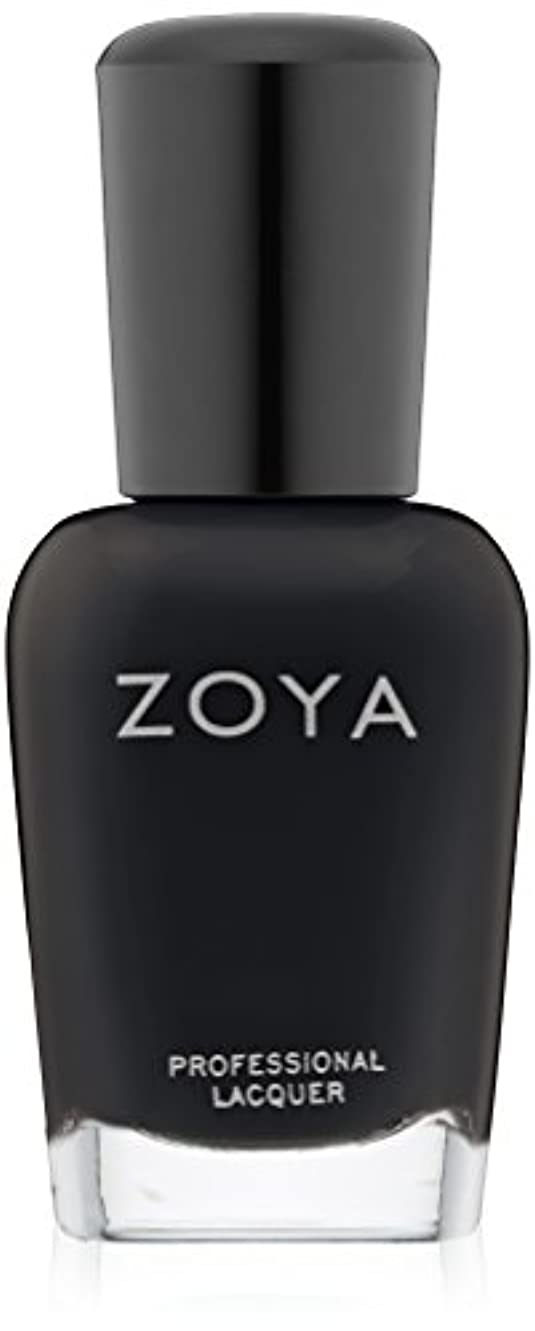 デュアル支払い調停するZOYA ゾーヤ ZP771 WILLA ウィラ 15ml 2014 Winter/Holiday Wishes Collection マットブラック 爪にやさしいネイルラッカーマニキュア