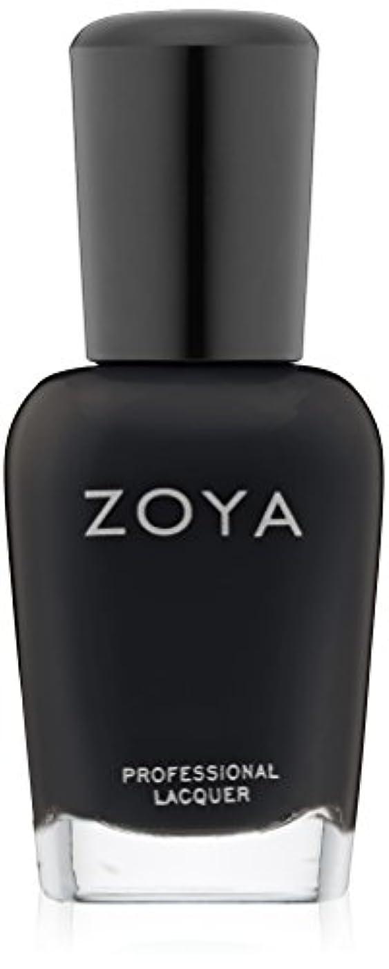 窒息させる窒素光沢ZOYA ゾーヤ ZP771 WILLA ウィラ 15ml 2014 Winter/Holiday Wishes Collection マットブラック 爪にやさしいネイルラッカーマニキュア