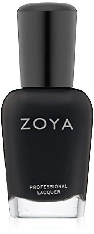 名前でカレッジ不毛ZOYA ゾーヤ ZP771 WILLA ウィラ 15ml 2014 Winter/Holiday Wishes Collection マットブラック 爪にやさしいネイルラッカーマニキュア