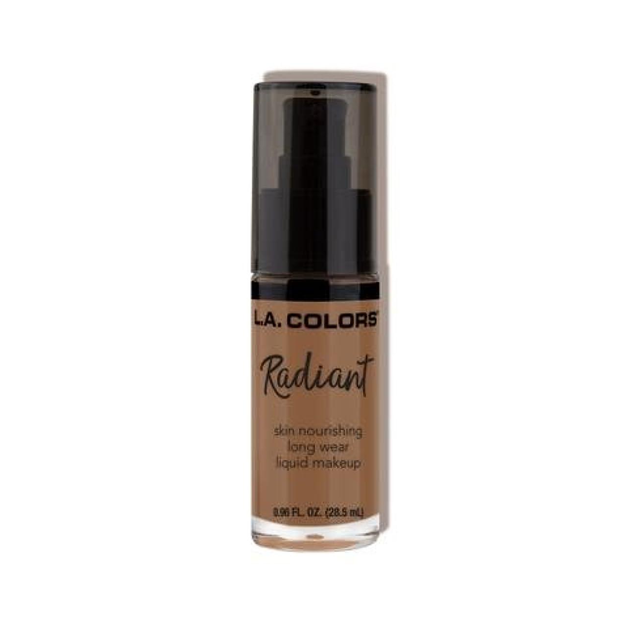 クレーター柔らかい救い(3 Pack) L.A. COLORS Radiant Liquid Makeup - Mocha (並行輸入品)