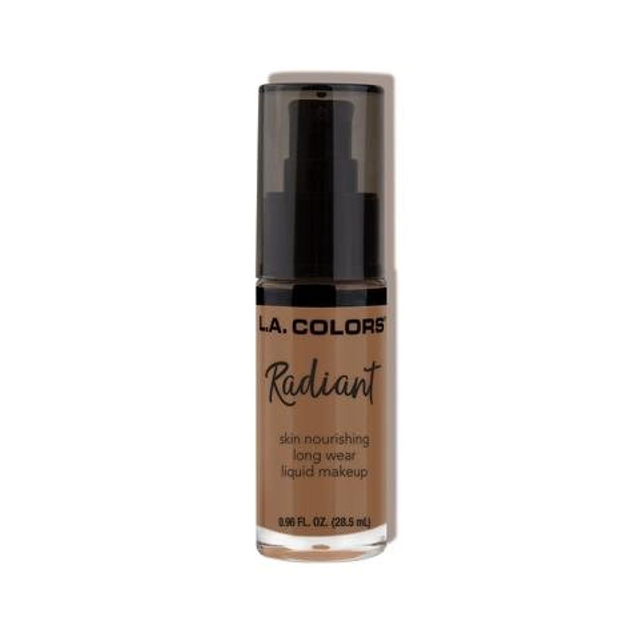 ブレンドのどパブ(3 Pack) L.A. COLORS Radiant Liquid Makeup - Mocha (並行輸入品)