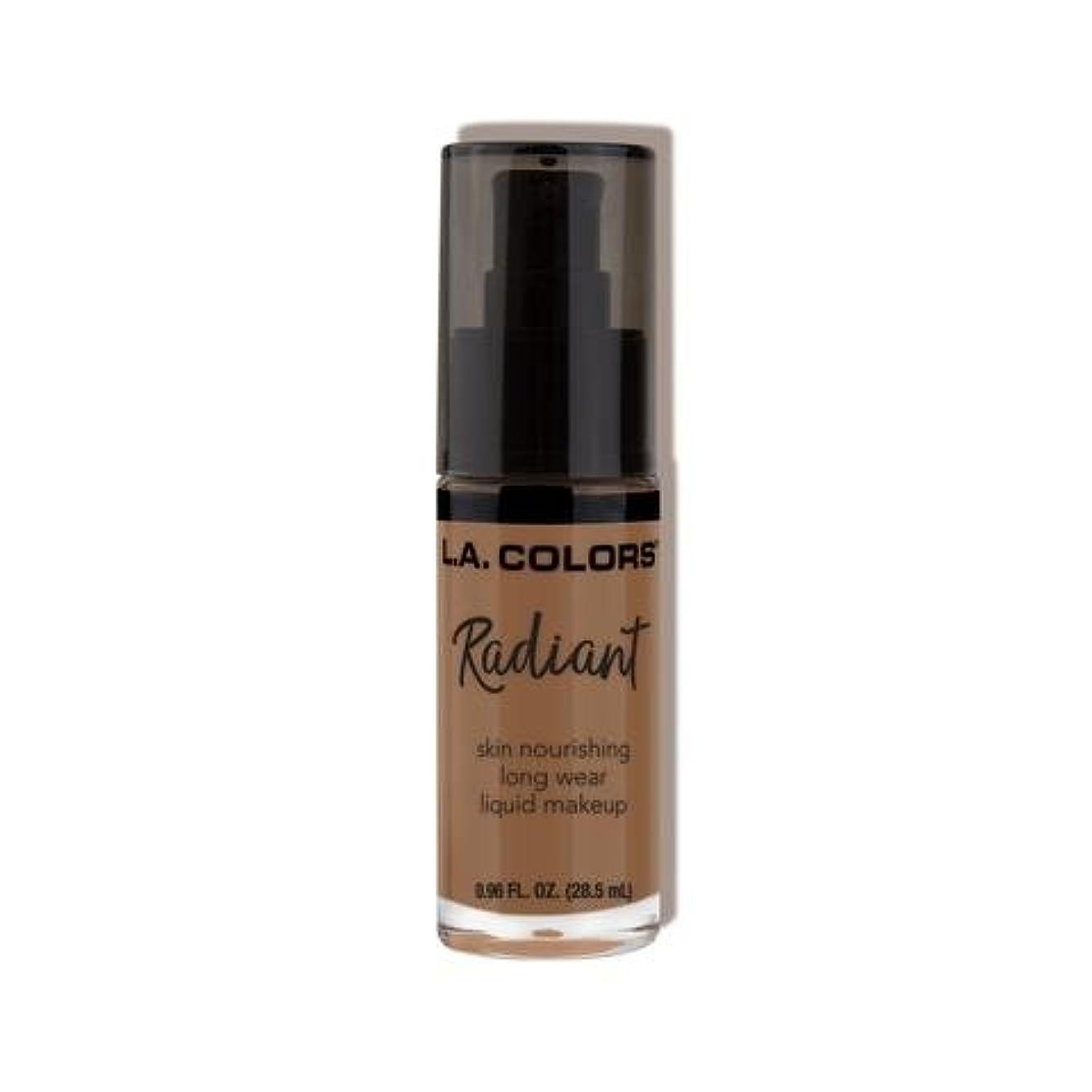 三角形まあ超える(3 Pack) L.A. COLORS Radiant Liquid Makeup - Mocha (並行輸入品)