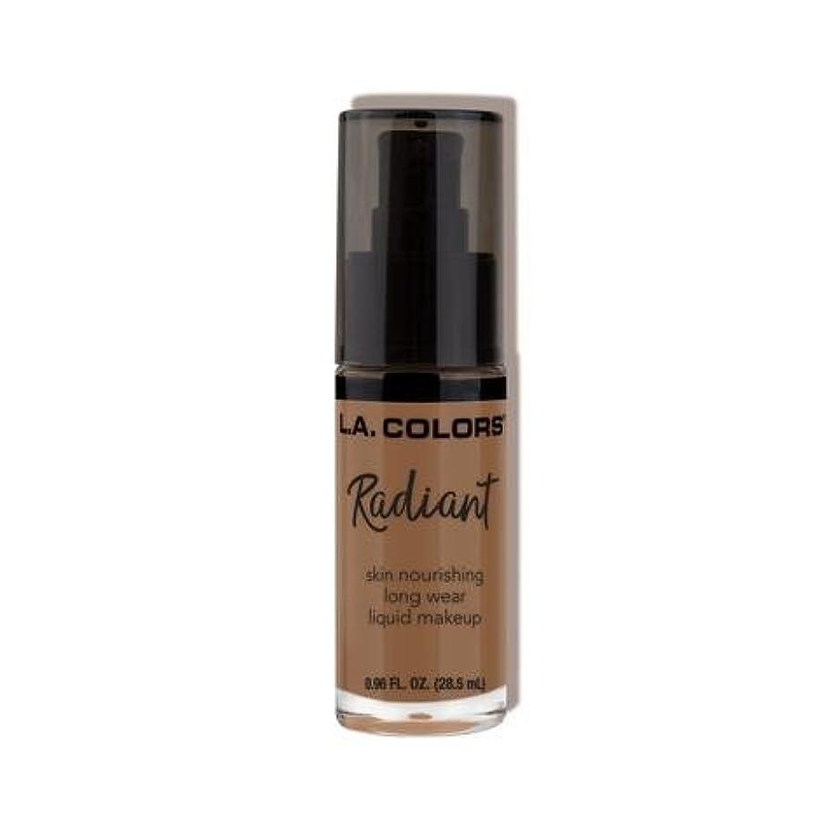 コンデンサー破壊的なアレルギー性(3 Pack) L.A. COLORS Radiant Liquid Makeup - Mocha (並行輸入品)