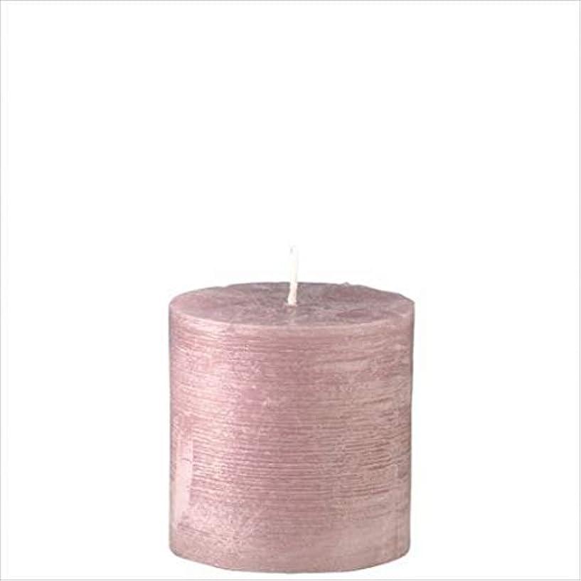 紫の袋インタフェースヤンキーキャンドル(YANKEE CANDLE) ラスティクピラー3×3 「 ラベンダークリーム 」 キャンドル