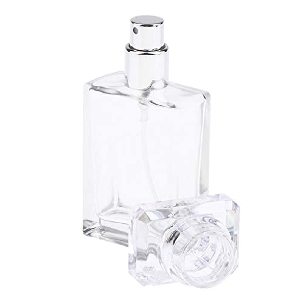 俳優可動なんとなくPerfeclan アロマボトル 香水瓶 アトマイザー スプレーボトル 香水 ガラスポンプボトル 2色選ぶ 空の化粧品ボトル - クリア