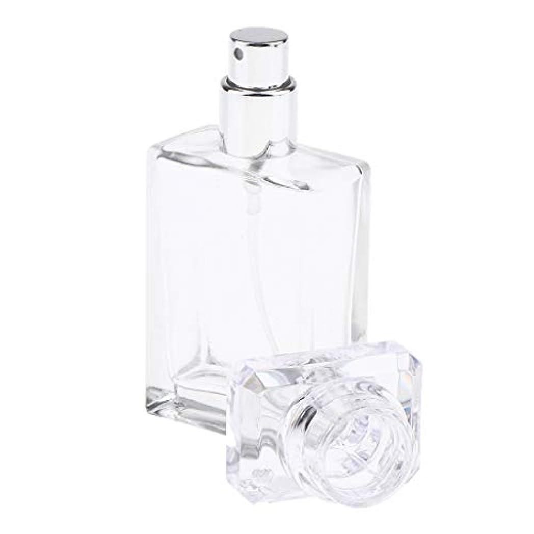Perfeclan アロマボトル 香水瓶 アトマイザー スプレーボトル 香水 ガラスポンプボトル 2色選ぶ 空の化粧品ボトル - クリア