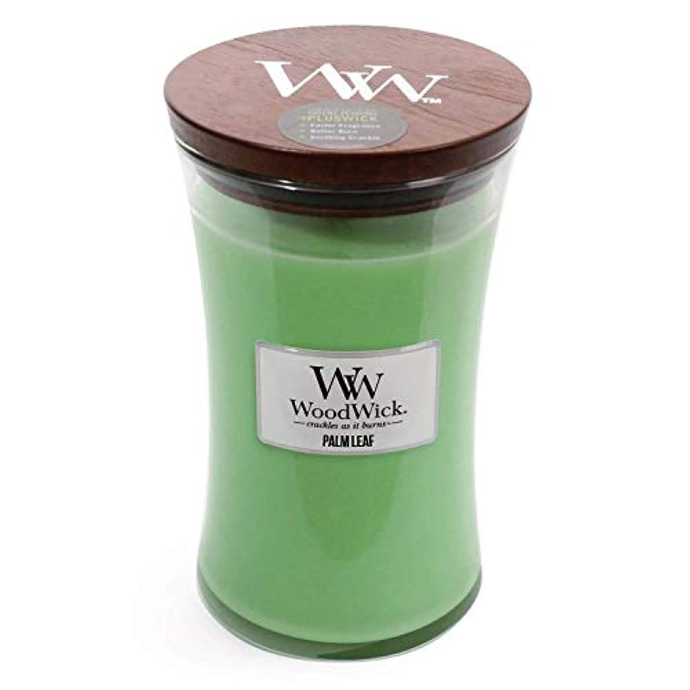 刑務所先例雄弁なPalm Leaf WoodWick 22 oz Large砂時計Jar Candle Burns 180時間