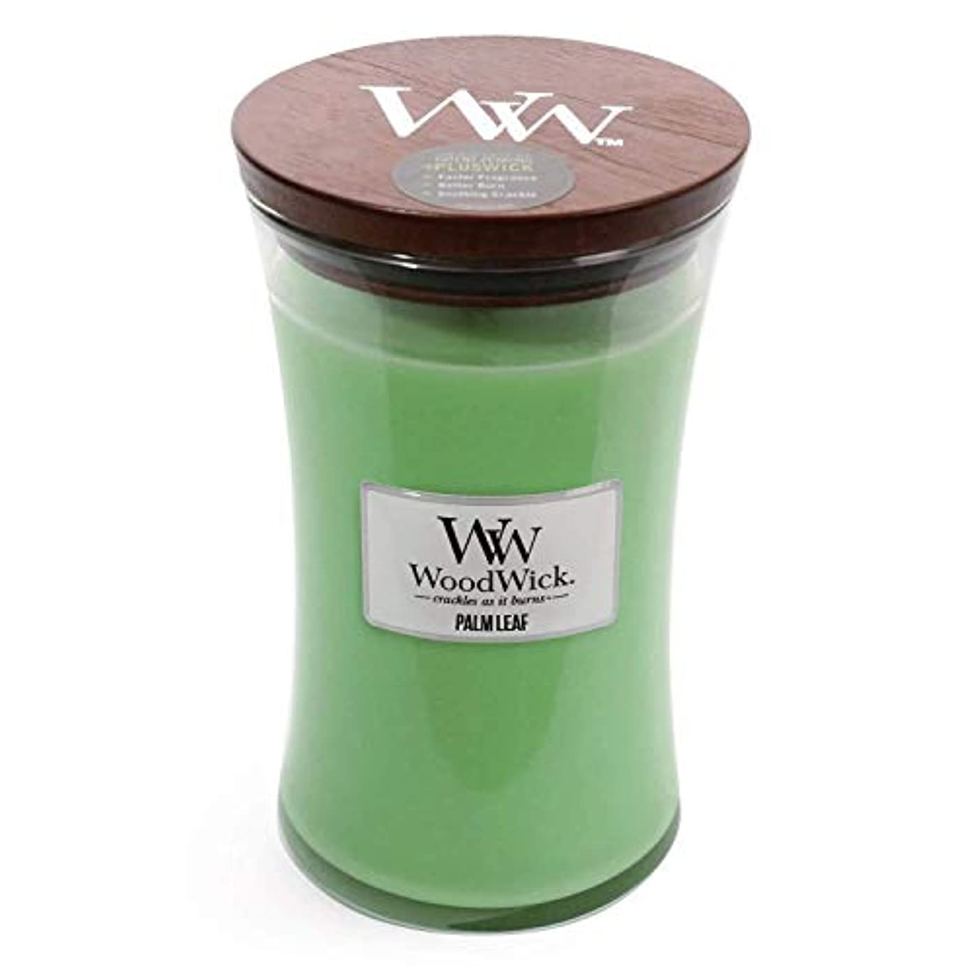 医療の食品国歌Palm Leaf WoodWick 22 oz Large砂時計Jar Candle Burns 180時間