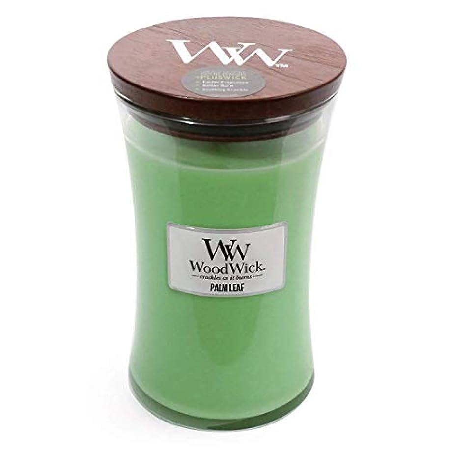 時間台無しに失望させるPalm Leaf WoodWick 22 oz Large砂時計Jar Candle Burns 180時間