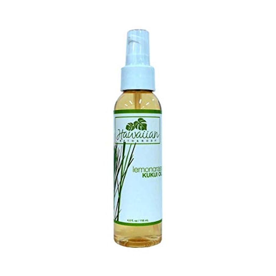 乱用しつけバラ色ハワイアンバス&ボディ ククイオイル ?レモングラス Lemongrass Kukui Nut Oil 118ml