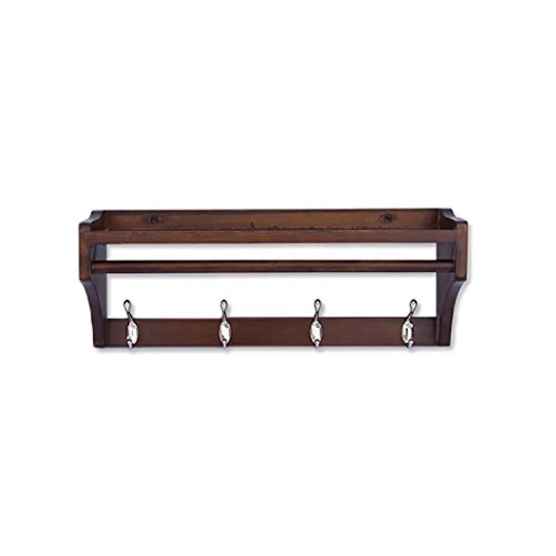 壁掛けコートラック、壁掛けコートフック、ベッドルームリビングルーム入り口創造性シンプルでモダンな木製の壁掛けコートラック。 (サイズ さいず : 51.5 * 15 * 20cm)