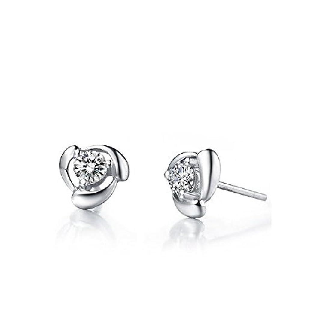 巨大デザイナーぶら下がるsilvernshine Jewelsソリティアスタッドファッションイヤリング14 KホワイトゴールドFNホワイトSimダイヤモンド