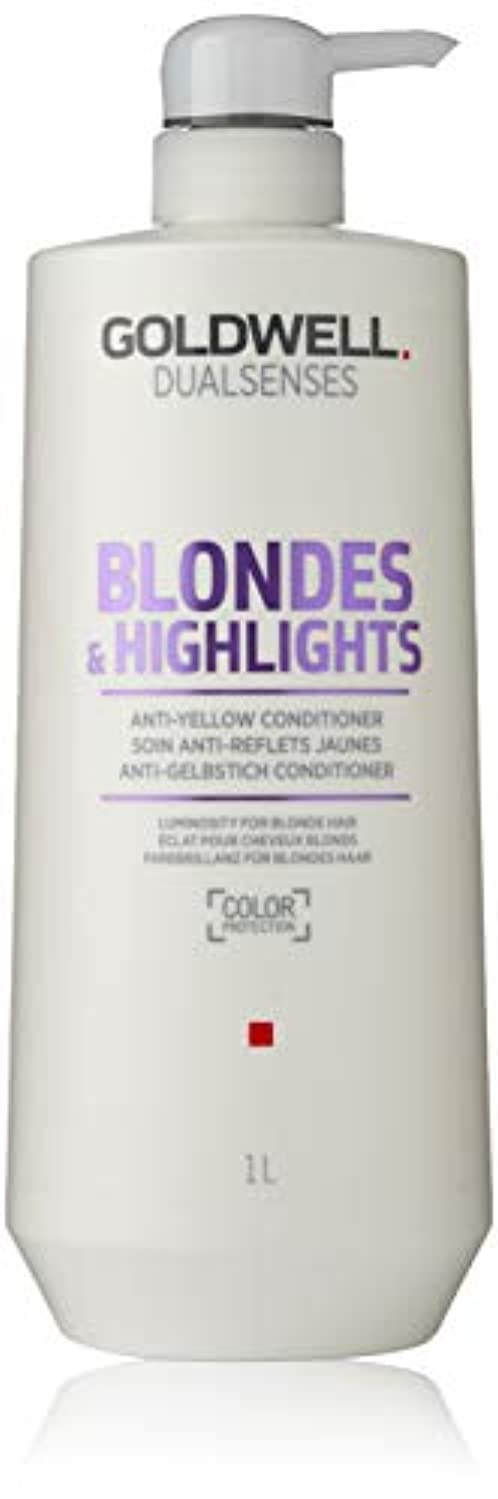 騒写真を撮る乳製品ゴールドウェル Dual Senses Blondes & Highlights Anti-Yellow Conditioner (Luminosity For Blonde Hair) 1000ml