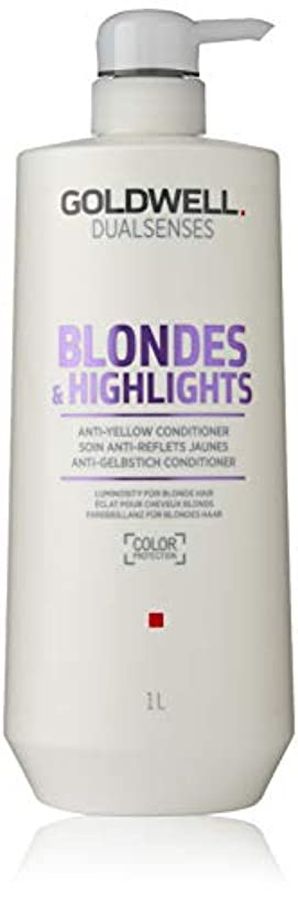 航海自分の力ですべてをする信頼性ゴールドウェル Dual Senses Blondes & Highlights Anti-Yellow Conditioner (Luminosity For Blonde Hair) 1000ml