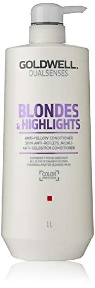 出席する人道的個性ゴールドウェル Dual Senses Blondes & Highlights Anti-Yellow Conditioner (Luminosity For Blonde Hair) 1000ml