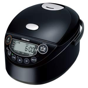 IHジャー炊飯器(3.5合炊き) ブラック 備長炭鍛造かまど釜 TOSHIBA RC-6XM-K