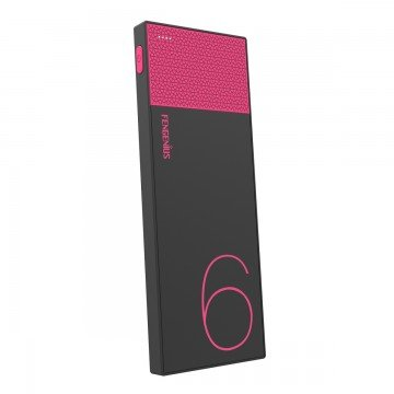 SQ 大容量モバイルバッテリー 6000mAh 軽量 超薄型 2.1A出力 スマホ急速充電可 iPhone Android対応 ピンク